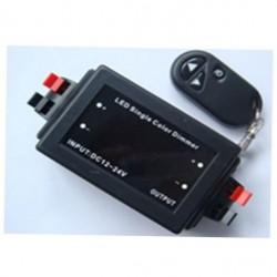 Диммер LED Oselya 12-24V 96W 8A RF - пуль д/у 3 кнопки черный Картинка