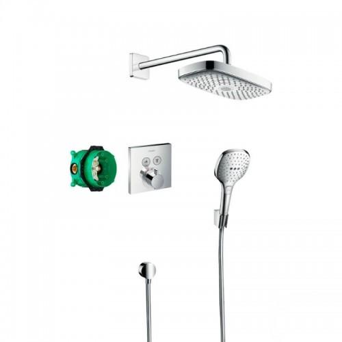 Душевая система Hansgrohe Raindance Select E 27296000 скрытого монтажа с термостатом Картинка 10202106
