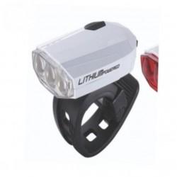 BLS-46 минифара передняя Spark бел литиевый аккум зарядка от USB