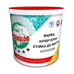 Краска акриловая интерьерная Anserglob Стойкая к мытью 7.5кг