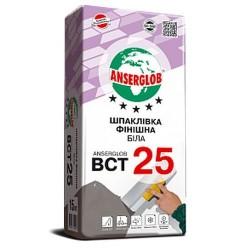 Шпаклевка финишная Anserglob BСТ-25 белая 15кг