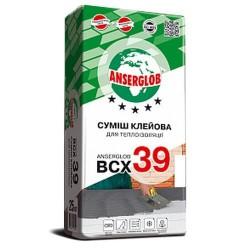 Клей для пенопласта Anserglob ВСХ-39 25кг приклеивание Картинка