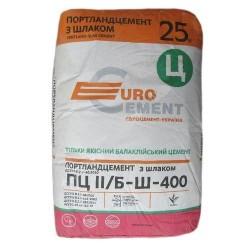 Цемент ПЦ 2-Б-Ш марка 400 Евроцемент 25кг заводская упаковка Картинка