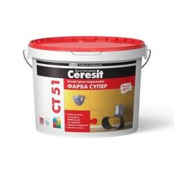 Краска интерьерная акриловая Ceresit CT 51 10л