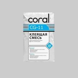Клей для плитки Coral CG 11 25кг Картинка