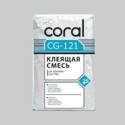 Клей для плитки и керамогранита Сoral CG 121 25кг Картинка