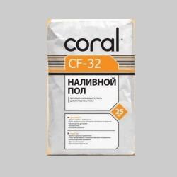 Пол наливной Coral CF 32 25кг Картинка