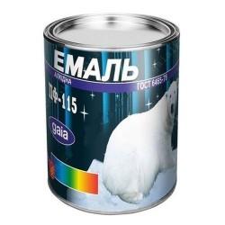 Краска Эмаль ПФ-115 черная 0,9кг Картинка