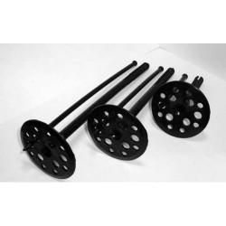 Крепление для пенопласта черное с пл гвоздем 10х120мм 100шт