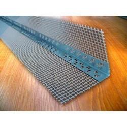 Уголок алюминиевый со стеклосеткой 2,5м Картинка