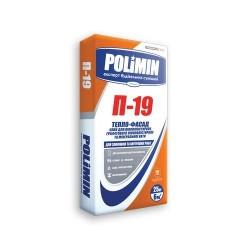 Клей для пенопласта Polimin P 19 25кг приклеивание Картинка
