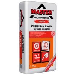 Клей для теплоизоляции Master Super 25кг армирование Картинка